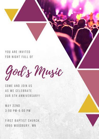 customize  church invitation templates  canva