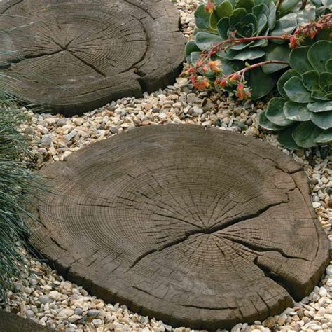 bloombety stepping stones with decorative gravel