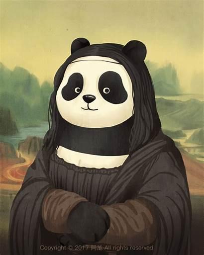 Monet Schilderijen Ja Mynd Nu Panda Parasol