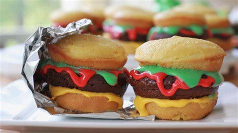 easy hamburger cupcakes recipe youtube