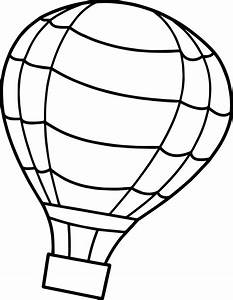 flip air balloon coloring page wecoloringpagecom With hotairschematic
