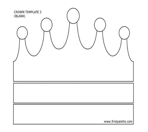 paper crown template   word  documents