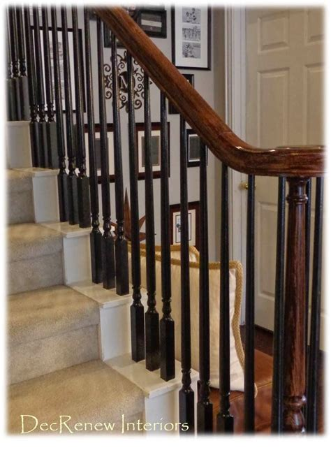 Wooden Banister Spindles by Paint Your Spindles Black For A Dramatic Change