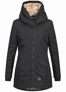 77 Online Shop De : aiki damen winter mantel kapuze teddyfell 2 taschen schwarz 77onlineshop ~ Markanthonyermac.com Haus und Dekorationen