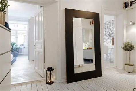floor mirror black frame stunning large d 233 cor mirror