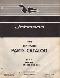 Find 1966 Johnson Outboard Motor 6 Hp P  N 381412 Parts