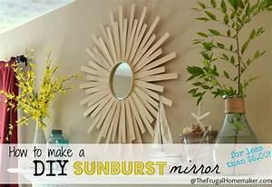 Diy sunburst mirror wall art