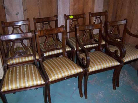 mahogany lyre back chairs mahogany lyre back dining chairs federal sheraton style