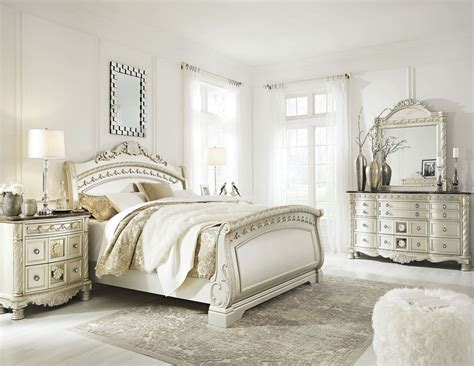 shore sleigh bed cassimore shore pearl silver sleigh bedroom set from