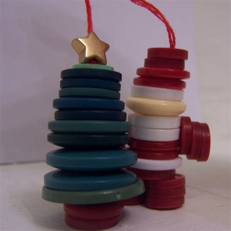christmas creative christmas crafts button decorations