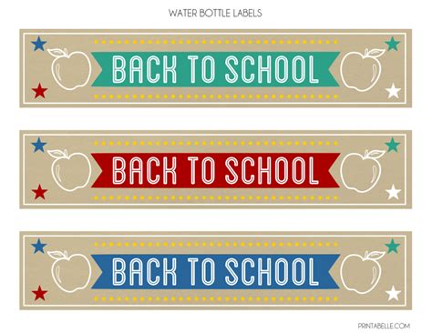 free back to school party printables from printabelle catch my party