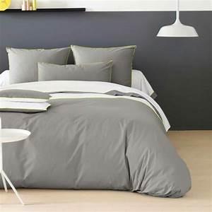 La housse de couette bicolore idee moderne pour la for Chambre à coucher adulte avec housse de couette grande largeur