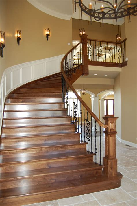 Banister Rails by Custom Walnut Stair W Wrought Iron Rails Rl Builders