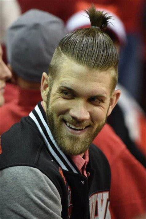 bryce harper haircut   stylish edgy men