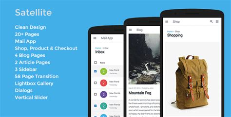 Themeforest Gravity Material Mobile App Template by Satellite Mobile App Template Free Download Free