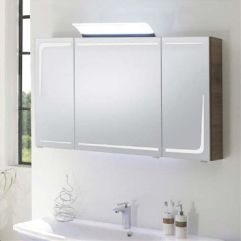 Bathroom Mirror Cabinets With Led Lights by Solitaire 7005 2 3 Door Mirror Cabinet Led Lights In