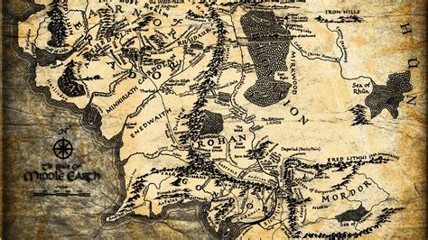 Middle Earth, Map, The Lord Of The Rings Wallpapers Hd