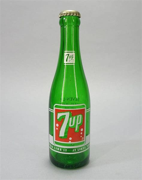 1950s vintage 7up soda bottle seven up bottling co jefferson city mo green glass logo jeff