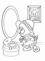 Mirror Coloring Coloringtop sketch template