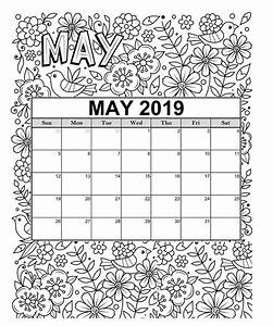 Free 2019 Printable Coloring Calendar Pages