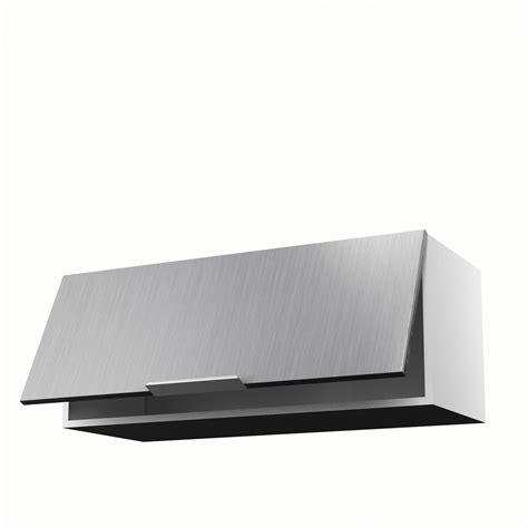 pose meuble haut cuisine meuble de cuisine haut décor aluminium 1 porte stil h 35 x