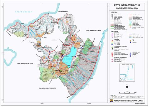 peta kota peta kabupaten minahasa