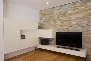Wohnzimmer Wand Steine : wohnzimmer mit stein wohnwand listberger tischlerei ~ Sanjose-hotels-ca.com Haus und Dekorationen
