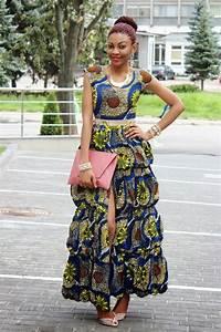 Long Ankara Dress With Front Slit Modern African Dress