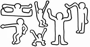 printable coloring pages digimon people printable best With keith haring figure templates