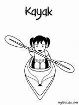 Kayak Coloring Printable Pages Getcolorings sketch template