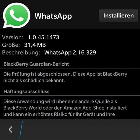 whatsapp weiter auf blackberry os10 ger 228 ten nutzen