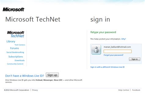 Hotmail Sign-in Page Tweaked Ahead Of Mix10, Metro