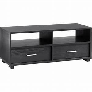Petit Meuble Noir : petit meuble tv noir ~ Teatrodelosmanantiales.com Idées de Décoration