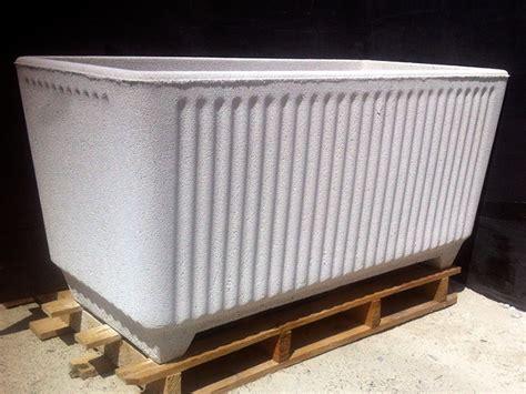 vasi in graniglia vaso fioriera rettangolare in cemento torino 100x50 h50