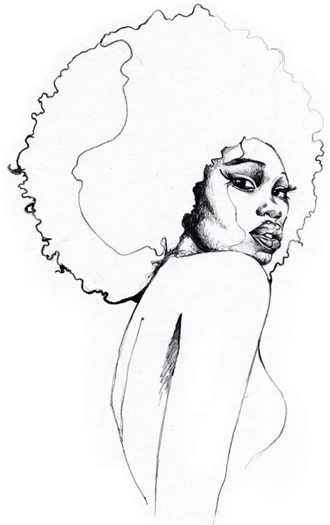 black girl  afro drawing  getdrawingscom   personal  black girl  afro