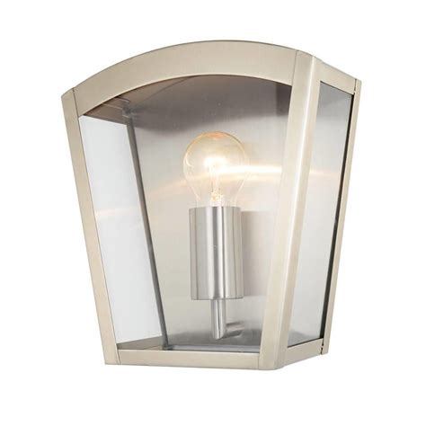 hamble outdoor lantern curved wall light stainless steel