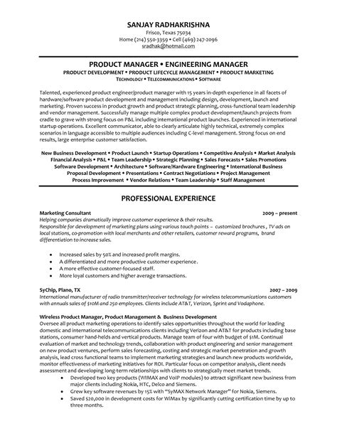 software manager resume exles product manager resume whitneyport daily