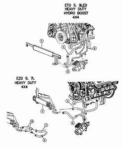 2003 Dodge Ram 3500 Hose  Power Steering Return