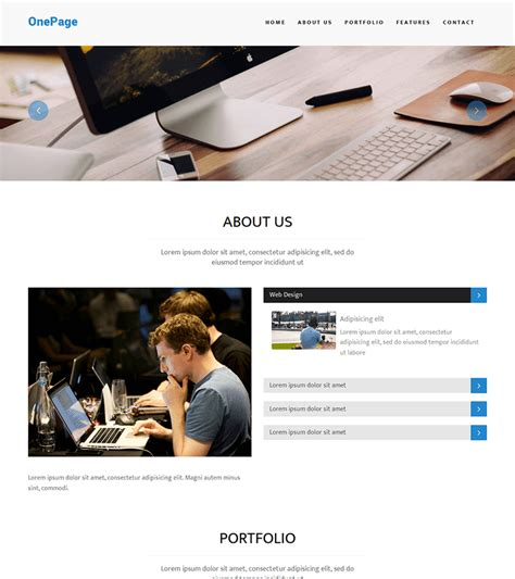 Onepage Theme Onepage Multipurpose Bootstrap Theme Bootstrapmade