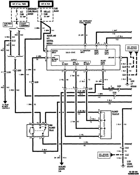 Wiring Diagram For 1995 Chevy Silverado by 1995 C K2500 I Am Missing A Ground On The Heater Circiut