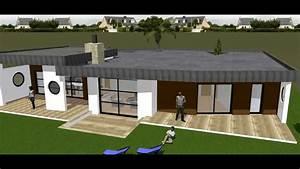Maison Moderne Toit Plat : maison moderne toiture terrasse toit plat batinnov ~ Nature-et-papiers.com Idées de Décoration