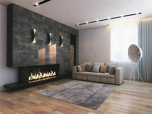 wall panels imitates stone represent a chic way to wall With wall panelling designs living room