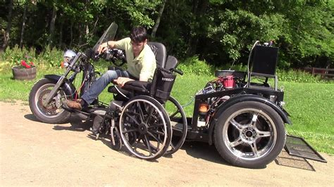 wow wheelchair accessible custom trike with glide n go