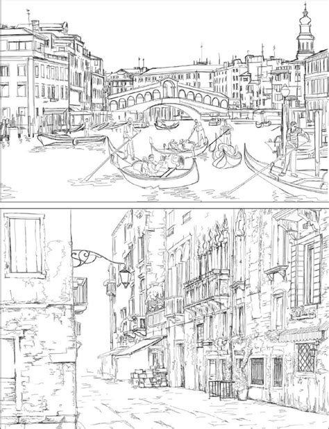 venice coloring book for adults coloring pages to print