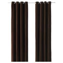 sanela curtains 1 pair brown 140x300 cm ikea