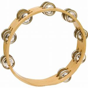 CP Headless Double Row Wood Tambourine 10 In | Music123