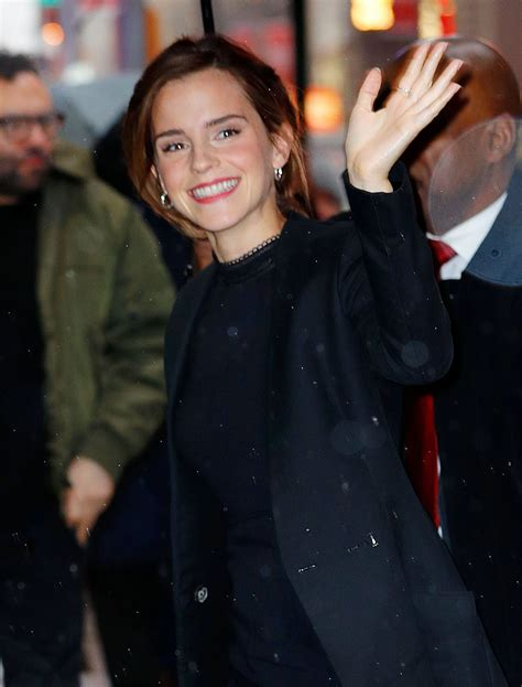 Emma Watson Good Morning America Show Nyc