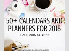 Free Printable Calendars And Planners For 2018 50