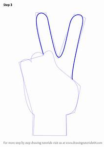 Learn How to Draw Peace Sign Hand (Symbols) Step by Step ...