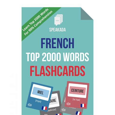 2000 Most Common French Words Anki Flashcards | SPEAKADA